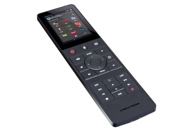 Crestron smart home remote control.