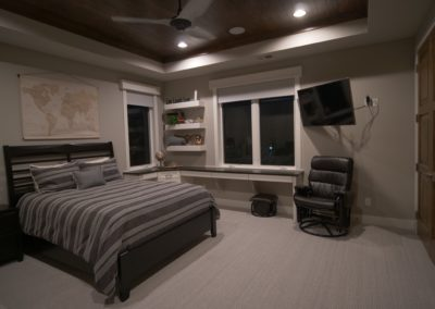 Simplicity shades in bedroom | Home Automation Kansas City