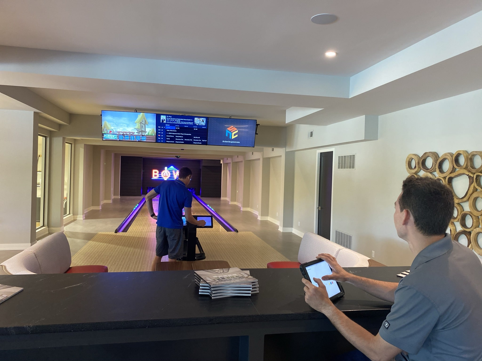 In home bowling alley