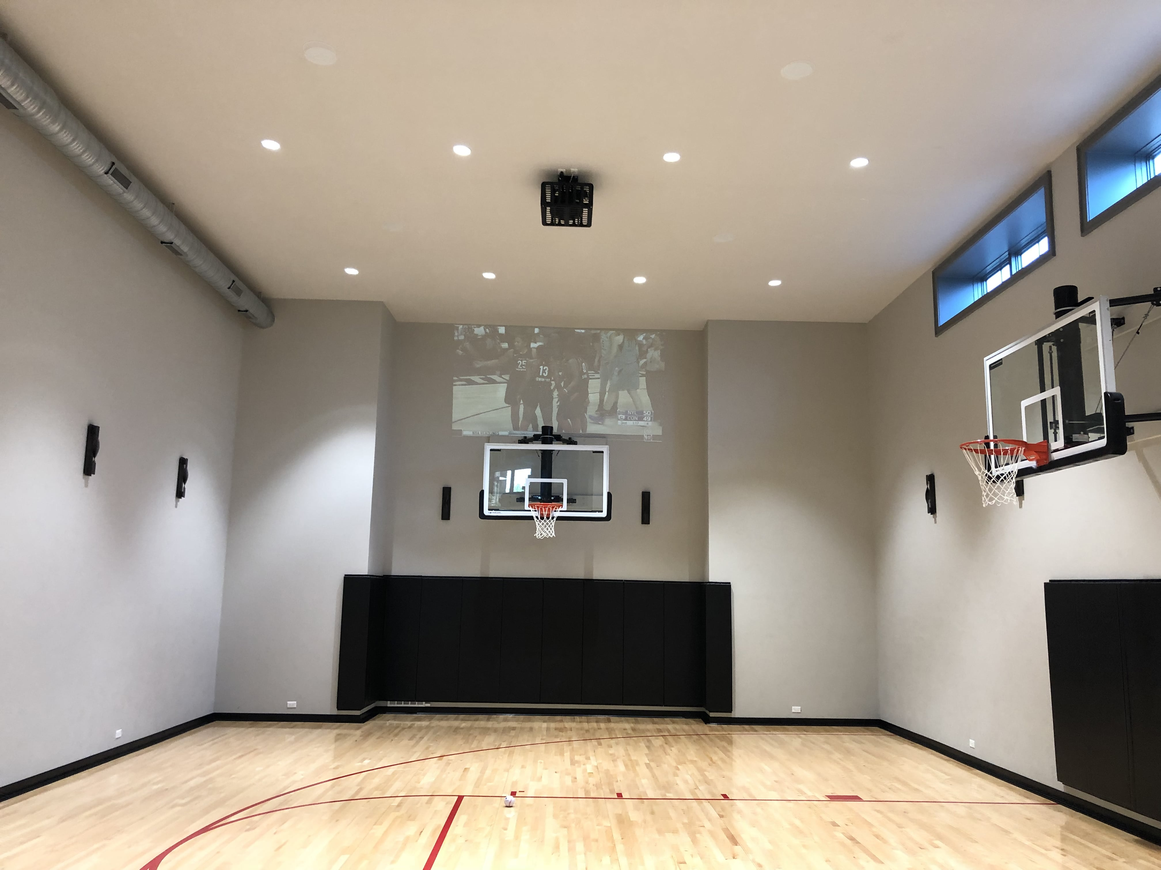 audio visual in basketball court