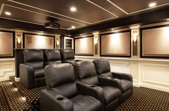 Home theater custom seating